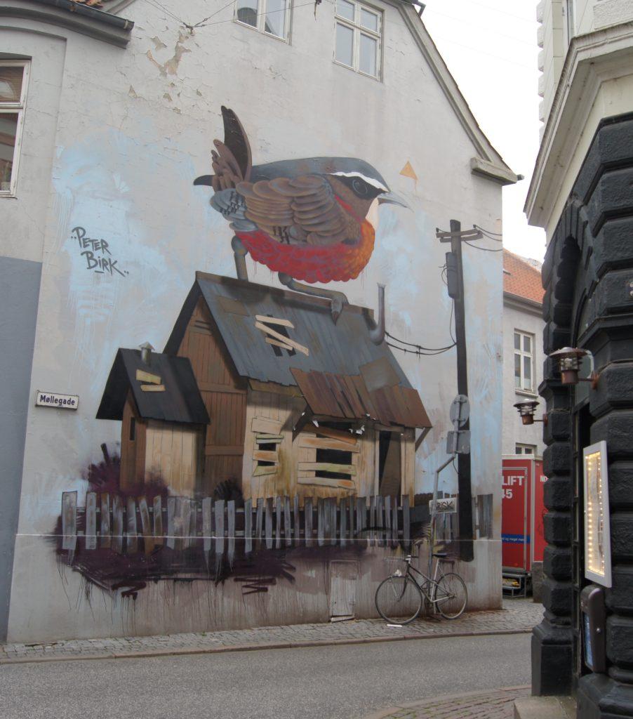 Streetart i sentrum av Århus.