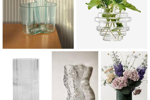 Fem fine vaser